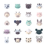Animal Icon and Cartoon, Pets Icon Style Colorful Flat Icons Royalty Free Stock Photos