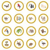 Animal icon circle. Cartoon isolated illustration vector illustration