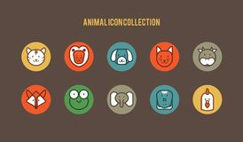 Animal icon collection. An animal icon stock illustration