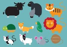 Animal-ICON. Cute animal icon set - Illustration Royalty Free Stock Images