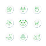 Animal Icon Set Royalty Free Stock Photography