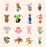 Animal icon set. Cute cartoon vector illusttration vector illustration