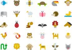 Animal icon set Royalty Free Stock Images