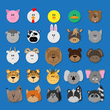 Animal icon set Royalty Free Stock Images