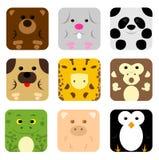 Animal icon set Royalty Free Stock Photography