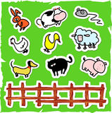 Animal icons stock images