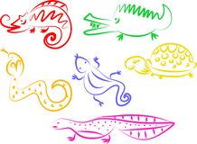 Animal icons Royalty Free Stock Image