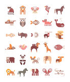 Animal Icons Stock Photo