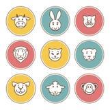 Animal icons Royalty Free Stock Photo