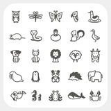 Animal icons set isolated on background. On background Royalty Free Stock Images