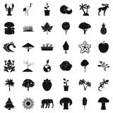 Animal icons set, simple style. Animal icons set. Simple style of 36 animal vector icons for web isolated on white background Stock Image