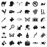 Animal icons set, simple style. Animal icons set. Simple style of 36 animal vector icons for web isolated on white background Stock Images