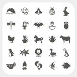 Animal icons set on white background. Animal icons set isolated on white background Royalty Free Illustration