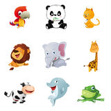 Animal icons. A vector illustration of cute animal icons stock illustration