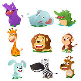 Animal icons. A vector illustration of cute animal icon sets vector illustration