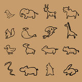 Animal icons zoo collection. Set Stock Images