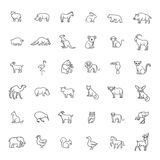 Animal icons. Zoo icons. Animals. Animal icons. vector outline icon set. Zoo Royalty Free Stock Images