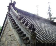 Chinese traditional roof stock photography