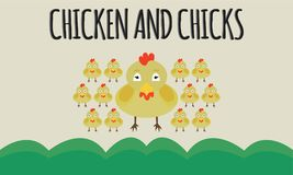 Animal image vector chicken and chick. Image in the form of eps file, with medium resolution and version used is illustrator cs 6 eps vector illustration