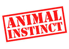 ANIMAL INSTINCT Rubber Stamp Stock Images