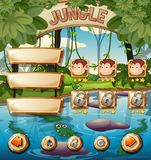 Animal jungle game template stock illustration