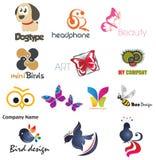 Animal Kids Logo Set 01 Royalty Free Stock Photos