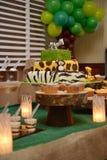 Animal kingdom birthday cake Stock Image