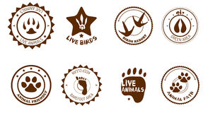 Animal labels set Stock Photography