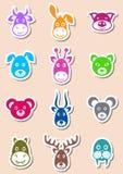 Animal labels vector illustration