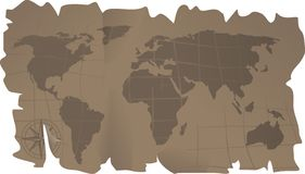 Animal leather map Stock Photos