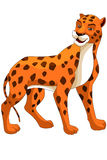 Animal leopard character cartoon style  illustration white Stock Images