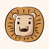 Animal lion flat icon elements, eps10. Vector illustration file Royalty Free Stock Images