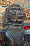 Animal, Lion Historic Thai Metal sculpture, Ancient Thai doll outdoor decoration in Wat Phra Si Rattana Satsadaram Stock Image
