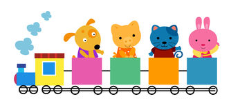Animal little train Royalty Free Stock Image