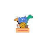 Animal logo. Cute animal logo for kids company Royalty Free Stock Photos
