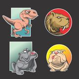 Animal logo pack royalty free illustration