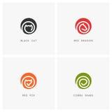 Animal logo set Stock Photos