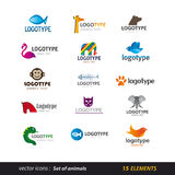 Animal logo set Royalty Free Stock Photography