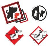 Animal logo. Logo with zebra and pet Royalty Free Stock Image