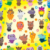 Animal Look Ball Seamless Pattern Stock Photos
