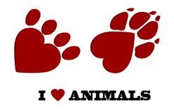Animal love Royalty Free Stock Photos