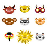 Animal masks Royalty Free Stock Images