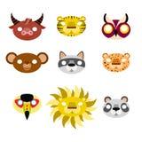 Animal masks Royalty Free Stock Images
