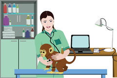 Animal Medical Treatment Template Royalty Free Stock Images