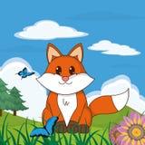 Animal mignon de Fox dans le paysage Image libre de droits