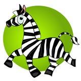 Animal mignon du zèbre character.striped de dessin animé Photographie stock