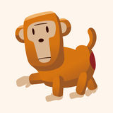 Animal monkey flat icon elements, eps10 Royalty Free Stock Image
