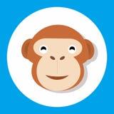 Animal monkey. Icon set design for dynamic web display Stock Images