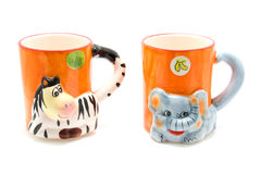 Animal mugs Royalty Free Stock Photos