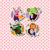 Animal music card Stock Photo